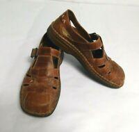 Josef Seibel Women Geneva Fisherman Sanders Brown Comfort Shoes Size 39 US 8.5