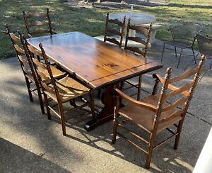 Ethan Allen Dining Table In Antique, Ethan Allen Discontinued Dining Room Furniture