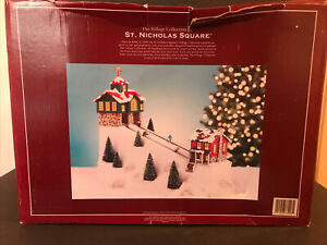 The Village Collection by St. Nicholas Square Animated Ski Hill- Boxed, Works