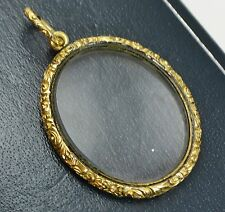 Antique Georgian / Victorian Gold-cased Quizzing MAGNIFYING GLASS Ornate PENDANT