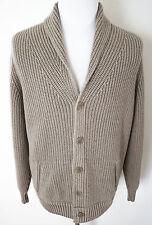 $3295 LORO PIANA Bromont Baby Cashmere Shawl Collar Cardigan Sweater 56 Euro XL