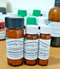Homeopathic Remedies in 30C in Sizes 8/16/25 Grams of Globules Homeopathy UK