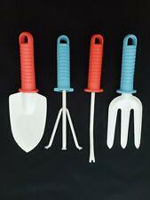 4 pcs Garden Tool Set Iron Shovel Rake Patio Garden Pots Hand Tools