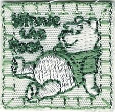 Winnie the Pooh Green Stitch Border Cartoon Character Embroidery Patch