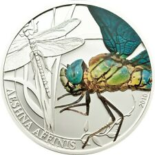 Palau $2 2010 World of Insects Series, DRAGONFLY 1/2 oz. silver coin RARE