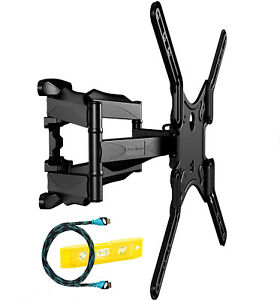 Invision 24-55 Inch Double Arm TV Wall Bracket with Tilt & Swivel Ultra Strong
