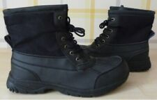 SIZE 44 UK SIZ10.MENS BLACK ANKLE BOOTS. WARM FAUX FUR LINING THROUGHOUT. £13.99
