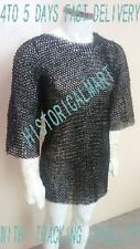 FLAT RIVETED WITH WASHER CHAINMAIL SHIRT MEDIUM SIZE MILD STEEL 10 MM RING