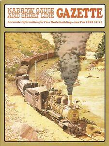 NARROW GAUGE & SHORT LINE GAZETTE 1-2/83 WEST SIDE LUMBER HEISLER, BALDWIN 50HP