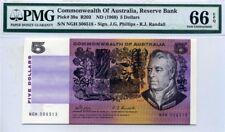 AUSTRALIA, Sir Joseph Banks, P-39a (1969), 5 Dollars, PMG66-EPQ (GEM UNC)