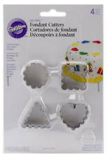 Wilton 4 FLUTED CUTTERS Stainless Steel Cake Decorating Art & Craft