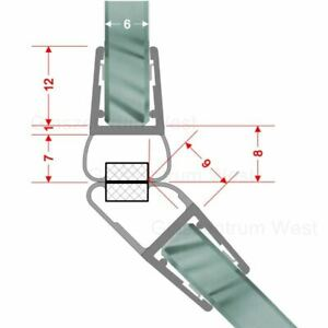 Magnetdichtung 135° Magnetdichtung 5-Eck-Dusche Duschdichtung 5/6/8mm Glas 1 Set