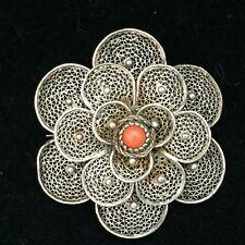 Antike Silber Brosche Br4 Art Nouveau Antique Brooch Silver