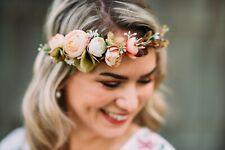 10-05i guirnalda de flores flores pelo joyas novia boda Wedding hairdress Boho