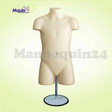 Child Mannequin Torso Dress Form Flesh Withstand Hook For Hanging