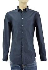 $250 DOLCE & GABBANA Blue BRAD Tailored D&G Casual Dress Cotton Men Shirt M