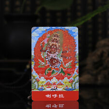 "3.4"" Tibet Tibetan Buddhism Exquisite painting Amulet thangka Rahula Buddha"