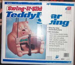 Vintage Molded Plastic Toddler Teddy Bear Swing -n-Slide NEW NIB USA made