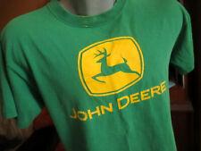 MEDIUM TRUE Vtg 90s JOHN DEERE CRACKLE GRAPHIC GREEN T-Shirt