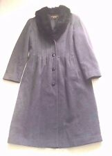 Women Gray Marvin Richards Long Lined  Coat sz L