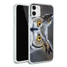 Great Horned Owl Painting Apple iPhone 8, 8 Plus, X, 11 Case