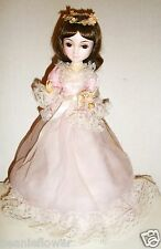 """12"""" 1986 BRINN'S JUNE BRIDESMAID DOLL Collectible Edition on Stand Made in Korea"""