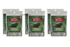 12 Scientic Anglers Bass Leaders  - Two 2-Packs  10LB & 12LB & 15lb - Free Ship