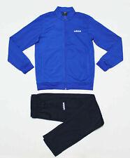 ADIDAS ESSENTIALS BASICS TRACKSUIT SET BLUE JACKET & PANTS SET NEW Sz S,M,L,XL