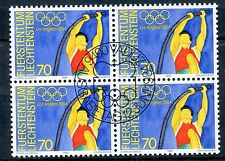 STAMP TIMBRE LIECHTENSTEIN OBLITERE BLOC DE 4 N° 787 JEUX OLYMPIQUES LOS ANGELES
