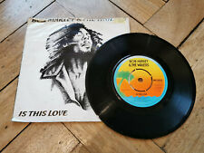 "bob marley is this love 7"" vinyl record good condition"