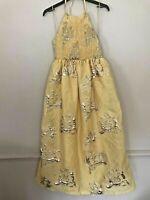 BNWT ZARA LIMITED EDITION YELLOW HALTERNECK DRESS WITH SMOCKING SIZE M