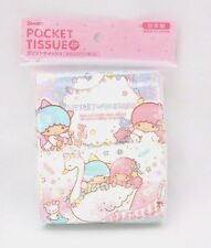 New Little Twins Stars Pocket Tissue 4pcs Made in Japan Sanrio Kawaii Free Ship