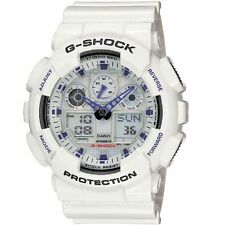 Casio G-Shock GA-100A-7A White Original Mens Watch 200M Diver  GA-100 GA100
