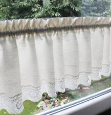 Rideau blanc avec des motifs Toile pour la maison