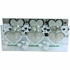 Heart Design Tea Light Holder in Glass Tealight Table Centre Wedding
