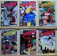 Daredevil (Marvel-1964) #294-299 Typhoid Mary Appr, Kingpin Storyline