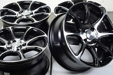 15 4x100 Black Rims Fits Chevrolet Cobalt Ford Escort Protege Saturn SC 2 Wheels