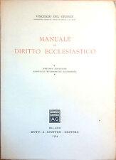 MANUALE DI DIRITTO ECCLESIASTICO DI VINCENZO DEL GIUDICE