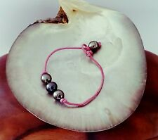 bracelet de 3 véritables perles de TAHITI