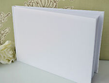 Plain Blank Undecorated Guest Book DIY Wedding Anniversary Christening Etc White