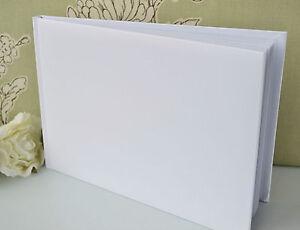 Plain, Blank, White Guest Book. DIY Wedding Guest Book.