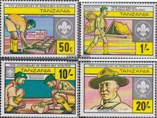 Tansania 205-208 (kompl.Ausg.) postfrisch 1982 Pfadfinderbewegung