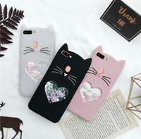 Liquid Cat Cute Phone Case Protective Silicone Gel Cover For iPhone 7 Plus/8Plus