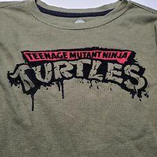 Teenage Mutant Ninja Turtles Thermal Long Sleeve T Shirt Men's MEDIUM Green