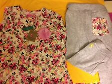 BNWT New Joules Girls 6 - 9 mths baby mari cream ditsy Set top & Leggings Outfit