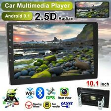 "2DIN 10.1"" Android 9.1 Autoradio MP5 Player GPS Navi WiFi BT USB FM Vidrio 2.5D"