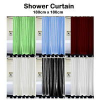 Extra Long Bathroom Shower Curtains With Hook Waterproof Fabric Washable Curtain