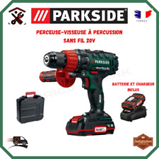 Perceuse Visseuse A Percussion Sans Fil 20V Parkside Chargeur Et Batterie Inclus