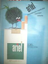 PUBLICITE DE PRESSE ARIEL CIGARETTES MENTHOL FRENCH AD 1956