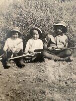 1905 Kid Cowboys Photo RPPC Country Farm Boys w/ Guns Old West Country Hunting